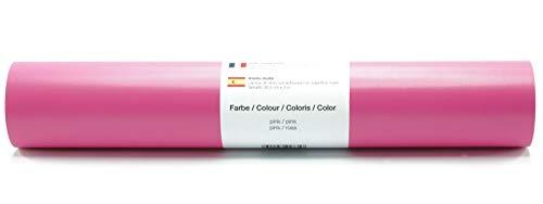 Selbstklebende Wandtattoo-/ Plotterfolie Vinylfolie matt 30,5 cm x 3 m - Farbauswahl Pink matt
