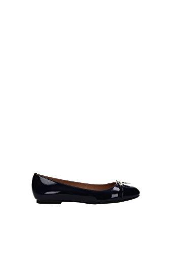 Ballerine Armani Jeans Donna Pelle Blu V55622350 Blu 36EU