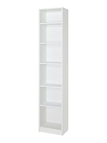 MUEBLECASA.COM Estantería Librería 200cm alto x 40cm ancho x 27cm fondo (Blanco)