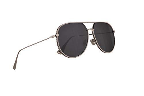 Dior Christian DiorByDior Sonnenbrille Silber Mit Grauen Gläsern 60mm 0102K Diorbydior By