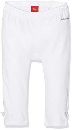 s.Oliver Baby-Mädchen 65.903.75.2765 Leggings, Weiß (White 0100), (Herstellergröße: 86/REG)