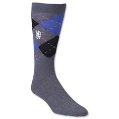 Chelsea FC Herren Argyle Kleid Socken (Größe 7-11) (Mit Teddy-bär Socke)