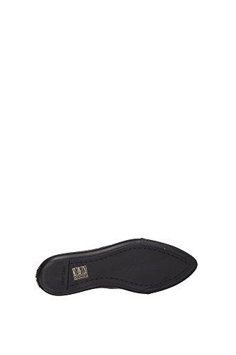 5S9990NERO Miu Miu Sneakers Femme Cuir Noir Noir