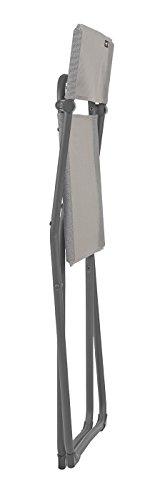 Lafuma Kompakter Klappstuhl, für Terrasse, Garten und Balkon, Batyline, grau