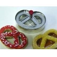 Utensilios para hornear de silicona en forma de pretzel galleta de la galleta del cortador del émbolo , de plata , 5x7x5 cm