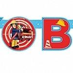 Amscan International Buchstabengirlande, Beschriftung Happy Birthday, Feuerwehrmann Sam