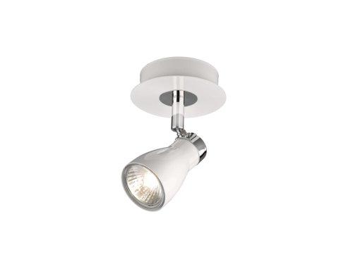 Massive 557303110intérieur GU1050W Blanc Éclairage de mur Lampe (intérieur, courant alternatif, GU10, halogène, blanc, aluminium)