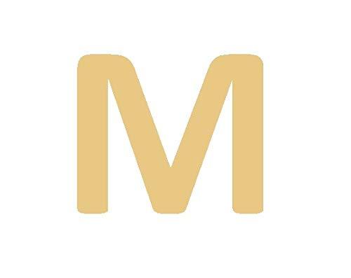 Imagen de gd good.designs est. 2015 ® collar con letras en oro, colgante con letra inicial redondo chapado en oro de 18k con grabado en relieve letra m  alternativa