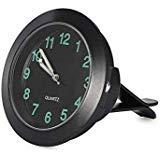 REACHS Auto Armaturenbrett Uhr Cars Air Vent Farben Quarz Uhren Mini und Perfekte Dekoration für Autos, SUV, MPV Schwarz