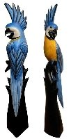 SITTICH Vogel Tier Holz Kakadu Ara 60 cm Papagei03 - Kakadu-maske