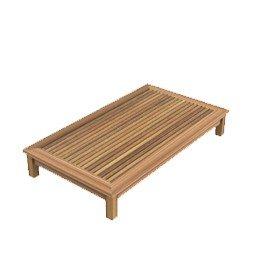 dafnedesign. com - Table de jardin table basse Chelsea de teck rectangulaire 80 x 140 cm, h 22