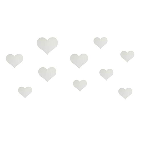 Mitlfuny Weihnachten Home TüR Dekoration 2019,10 STÜCKE Wandtattoo 3D Spiegel Wandaufkleber Liebe Herz Abnehmbare Aufkleber Wohnzimmer