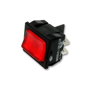ROCKER SWITCH, DPST, ILLUM RED BPSCA H8653VBNAC - SW03039 By ARCOLECTRIC