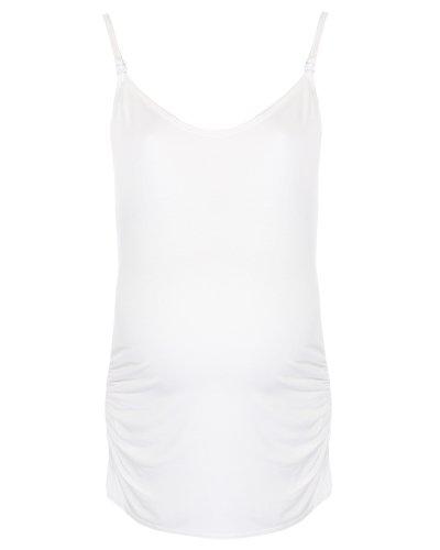 The Essential One - Top / Haut de grossesse et d'allaitement Blanc