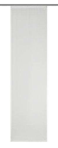 Home fashion voile 86241-801 tenda a pannello 245x60 cm, tinta unita