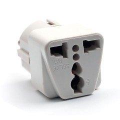 Preisvergleich Produktbild KOBWA Universal Reiseadapter Netzstecker-Adapter Reise-Konverter US UK Zu EU (DE) Anschluss,  Reisestecker / Travel Plug / Adapter Plug Universal auf DE und Fuer Die EU,  Weiss