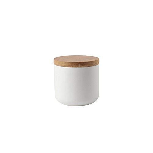 9 8 Oz Jar (OnePine Vorratsdosen Keramik mit Bambusdeckel Vorratsdose Kaffeedose Teedose - 260ml/9 oz Keramik Aufbewahrungsdosen für Tee Kaffee Bohne Zucker Gewürz Nüsse Korn)