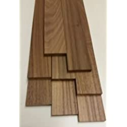 10 x tablones de madera de nogal 500 x 44 x 8 mm