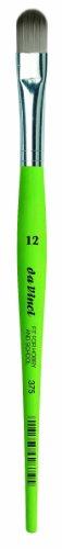 Da Vinci 375Serie Filbert Form Bürste, 12, synthetische Fasern, grün, 20x 1,1x 30cm - Serie 12
