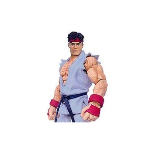 Street Fighter Round 1 Ryu 6 Action Figure - Gray Costume 4