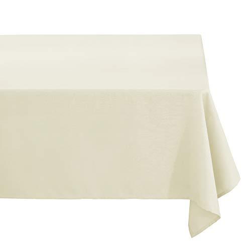 Deconovo Nappe Rectangulaire de Salle à Manger Effet Lin Impermeable 140x300cm Beige