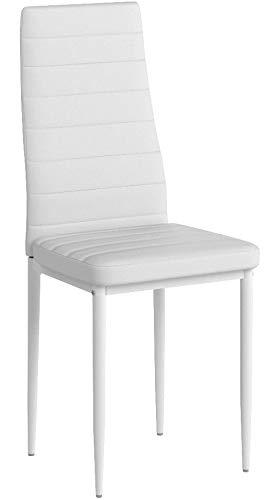 TecTake Set de sillas de Comedor 41x45x98,5cm cantidades - (4X Blanco |...