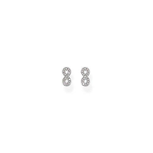 Thomas Sabo Damen-Ohrstecker 925 Silber Zirkonia weiß Brillantschliff - SCH150020