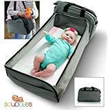 scuddles- 3–1| Portable Bassinet | per bambino | lettino pieghevole | funziona come una borsa fasciatoio e fasciatoio per culla, facile da viaggio pieghevole per viaggi