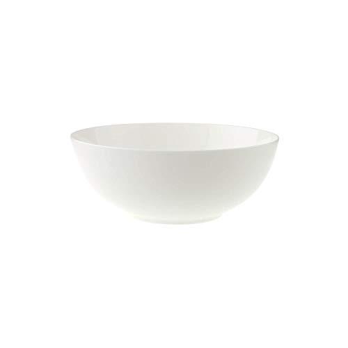Villeroy & Boch Royal runde Schüssel, edle Servierschale aus Premium Bone Porzellan, für Salate, Nudeln und Beilagen, spülmaschinenfest, 21 cm