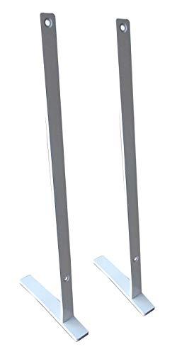 insidehome | Standbügel - Standfüsse für Infrarotheizung Spiegel/Glas Classic S rahmenlos | Hochformat | für 800 Watt