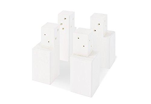 Pinolino 131600 Wickelkommoden - Erhöhung Weiß lasiert Vollmassiv Fichte, weiß lasiert