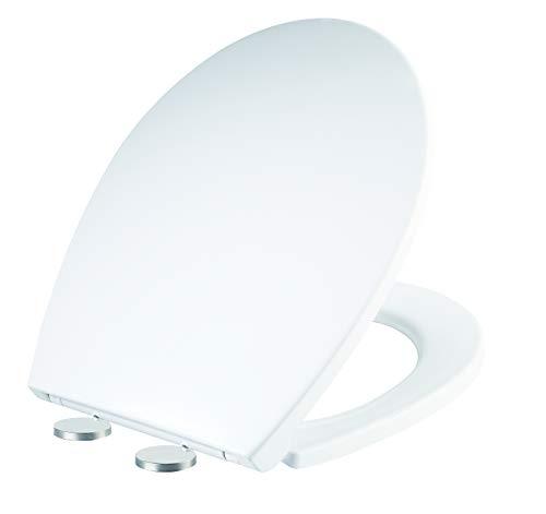 EasyPeasyStore Ultra ® WC-Sitz mit Absenkautomatik, leise und einfach zu öffnende Befestigung, eng verstellbare Scharniere, oval, antibakteriell, Standardmontage, für UK-Toiletten (TD412)