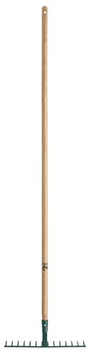 Leborgne-375141-Rteau-forg-14-dents-courbes-avec-manche-en-Bois