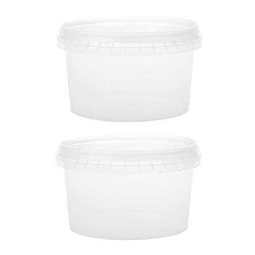 qingqingR 2 STÜCKE 400 ml Vorratsbehälter Organizer Box Mit einmaliger Dichtung Für Licht Lehm Knetmasse Schaum Schleim Schlamm Flauschigen Dynamischen Sand (Dichtung Schlamm)