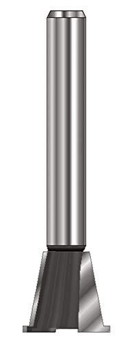 ENT 16130 Zinkenfräser HW (HM), Schaft (C) 8 mm, B 13,5 mm, A1 14,3 mm, A2 12,7 mm, E 14°, D 32 mm, mit Vorschneider