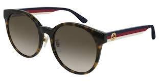 Gucci GG 0416SK 003 Damen Sonnenbrille, rund, braun, 55