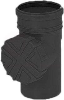 Regen Wasser Reinigungsrohr DN 100 Ø 110 mm braun grau graphit orange Laub Sieb Ablauf Fallrohr Rohr Dachrinne (Graphit)
