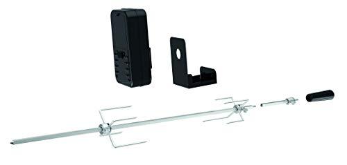 Tepro Universal Grillspieß Set, batteriebetrieben, Silber/schwarz, One Size