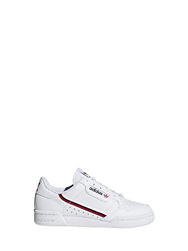 5717b08dab Adidas Continental 80 J, Zapatillas de Deporte Unisex Adulto, Blanco  (Ftwbla/Escarl