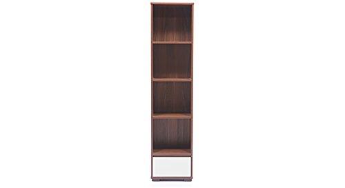 Urban Ladder Iwaki Double Bookshelf (Walnut)