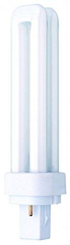 Preisvergleich Produktbild 13 Watt 2 Pin PLD Plug-in Leuchtstofflampe (G24d-1 Gap)-Warm Wei– Tasche von 10