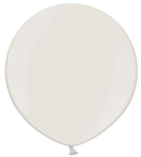 Belbal - Globos de Boda Redondos de látex metálico, 60 cm, 2 Unidades, Color Blanco