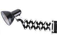 Flexo de pared extensible negro