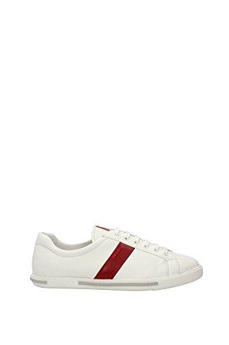 3E5856BIANCOSCARLATTO Prada Sneakers Femme Cuir Blanc Blanc