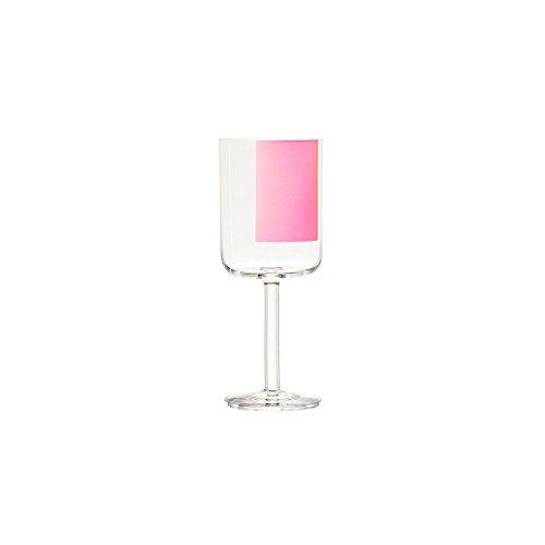 Hay Colour Glass Rotweinglas Pink Square (2 Stück)