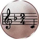 Pokal-Medaille-Emblem-Motiv-Musik-Durchmesser-50-mm-bronze