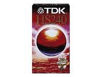 TDK VHS Videokassette HS-240 (240 Minuten Laufzeit) 1 Stück