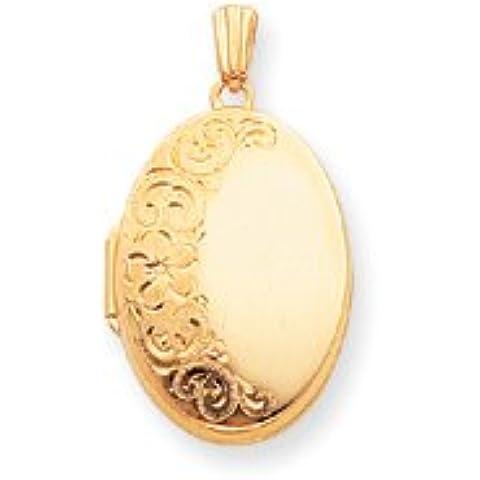 14K oro pesante peso Ovale Medaglione