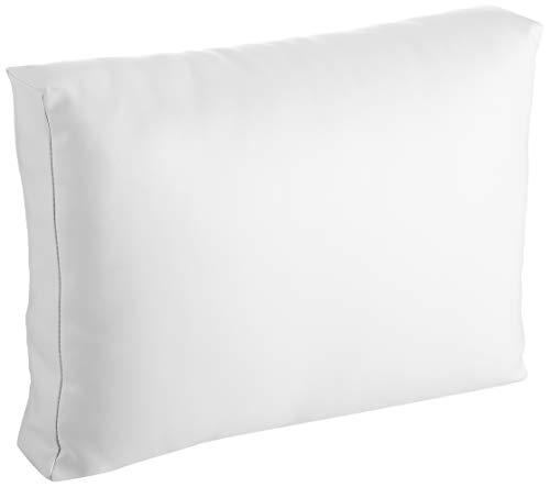 Mueblesexterior 00 - Pack de 2 Cojines Respaldo para Palet, 60 x 20 x 46 cm, Color Blanco
