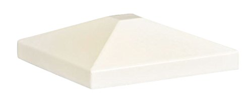 Feeney CR-4790-WHT-PKG Aluminum Cap, 4 x 4 for Wood Post, White by Feeney
